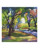Un paseo en el parque Lámina por Karen Mathison Schmidt