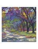 Sunny Oaks Print by Karen Mathison Schmidt