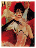 At La Scala or The Lodge of Hagel (A la Scala ou La loge d'Hagel) Julisteet tekijänä Jean-Gabriel Domergue