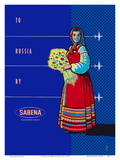 To Russia By Sabena - Sabena Belgian World Airlines Prints by Publi Tera