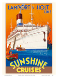 Sunshine Cruises - Lamport & Holt Line Prints by  Pacifica Island Art