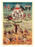 Ballet and Pantomime Troupe - Directed by M.M. Crociani and Pio Marzollo Print by  Pacifica Island Art