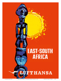 East-South Africa - Lufthansa German Airlines Prints by  Pacifica Island Art