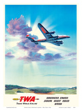 United States (Vereinigte Staaten) - Europe - Orient - India - Africa- TWA (Trans World Airlines) Posters by  Pacifica Island Art