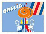 Orelia (Orangina) Beverage - Eifel Tower, Paris Posters af Bernard Villemot