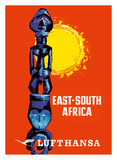 East-South Africa - Lufthansa German Airlines Giclée-tryk af Pacifica Island Art