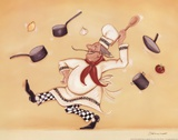 Dancing Chef Print by Stephanie Marrott