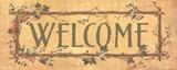 Willkommen – Ananas mit Vers Poster von Stephanie Marrott
