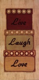 Live Laugh Love Print by Sue Allemand