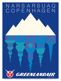 Narsarsuaq, Greenland - Copenhagen, Denmark - GreenlandAir Prints by Paul Anderson