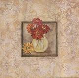 Gerbers in Vase - red flowers Posters by Stephanie Marrott
