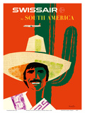 SwissAir to South America Prints by Donald Brun