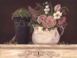 Floral W-Black Bucket Affiches par Jo Moulton