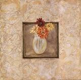 Gerbers in Vase Poster by Stephanie Marrott