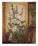 White Hollyhock Prints by Anita Phillips