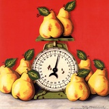 Pears on Scale Prints by Kathy Middlebrook