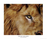 Eye of the Lion Print by Lucie Bilodeau