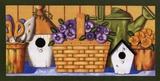Pansies in Basket Prints by Kathy Middlebrook