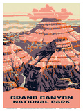 Grand Canyon National Park - Arizona - National Park Service Prints by  Work Projects Administration