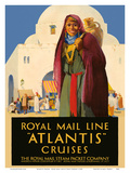 Atlantis Cruises - Royal Mail Line - The Royal Mail Steam Packet Company Prints by Percy Padden