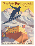 Berghotel Predigtstuhl - Ski Resort - Bad Reichenhall, Bavaria, Germany Prints by  Pacifica Island Art