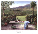 Overlooking the Vineyard Print by Barbara Felisky
