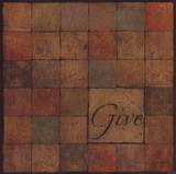 Give - square Poster by Stephanie Marrott