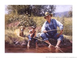Fishin' with Grandpa Prints by Jack Sorenson