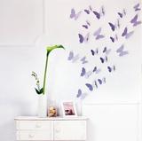 3D Butterflies - Lavender Wandtattoo