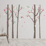 Birch Tree Forest Wandtattoo