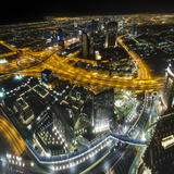 The View At Night From 'At The Top' Photographic Print by Nick Garbutt