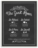 The Guest Room Guide Wood Sign
