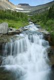 Water Rushing Down Alpine Stream, Logan Pass, Glacier National Park Photographic Print by Thomas Lazar