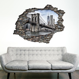 View Through the Wall - Brooklyn Bridge Wallsticker