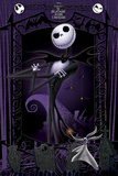 Nightmare Before Christmas- Jack & Zero At The Gates Poster