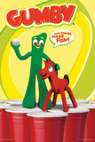Gumby- Here Comes More Fun Beer Pong Poster