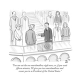"""You can eat the one marshmallow right now, or, if you wait fifteen minute... - New Yorker Cartoon Stretched Canvas Print by Paul Noth"