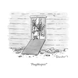 """Poughkeepsie!"" - New Yorker Cartoon Stretched Canvas Print by Danny Shanahan"