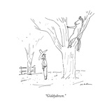 """Giddydown."" - New Yorker Cartoon Stretched Canvas Print by Michael Maslin"