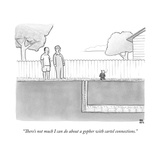 """There's not much I can do about a gopher with cartel connections."" - New Yorker Cartoon Stretched Canvas Print by Paul Noth"