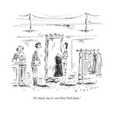 """It's black, but it's not New York black."" - New Yorker Cartoon Stretched Canvas Print by Barbara Smaller"