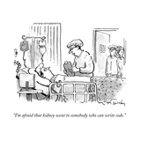 """I'm afraid that kidney went to somebody who can write code."" - New Yorker Cartoon Stretched Canvas Print by Mike Twohy"