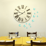 3D Butterflies - Turquoise Blue Wall Decal