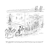 """If I really didn't need nutmeg do you think I'd ask you to go out and get..."" - New Yorker Cartoon Stretched Canvas Print by Michael Maslin"