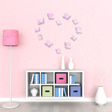 3D Crystal Flowers - Pink Wall Decal