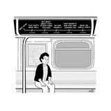 Metro stop map displays the thought process of a man on his way home from ... - New Yorker Cartoon Stretched Canvas Print by Ellis Rosen