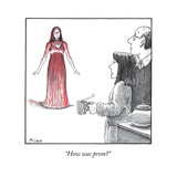 """How was prom?"" - New Yorker Cartoon Stretched Canvas Print by Harry Bliss"