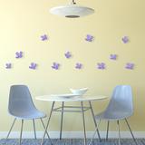 3D Crystal Flowers - Lavender Muursticker