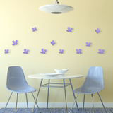 3D Crystal Flowers - Lavender Wall Decal