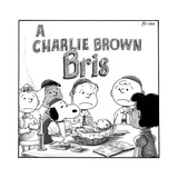 A Charlie Brown Bris -- Snoopy is the mohel.  - New Yorker Cartoon Stretched Canvas Print by Harry Bliss